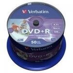 Диски DVD+R Verbatim Wide Inkjet Printable