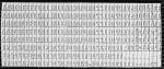 Каса букв і цифр висотою 3мм, 328 друкованих символів