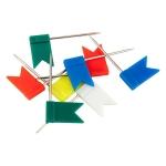 """Кнопки-цв'яхи Axent 4215-A кольорові """"прапорці"""""""
