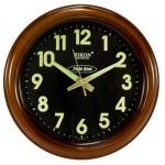 Годинник настінний RIKON 13751 wood black nightglow